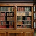 Bibliotheque ancienne, Antique Bookcase library,